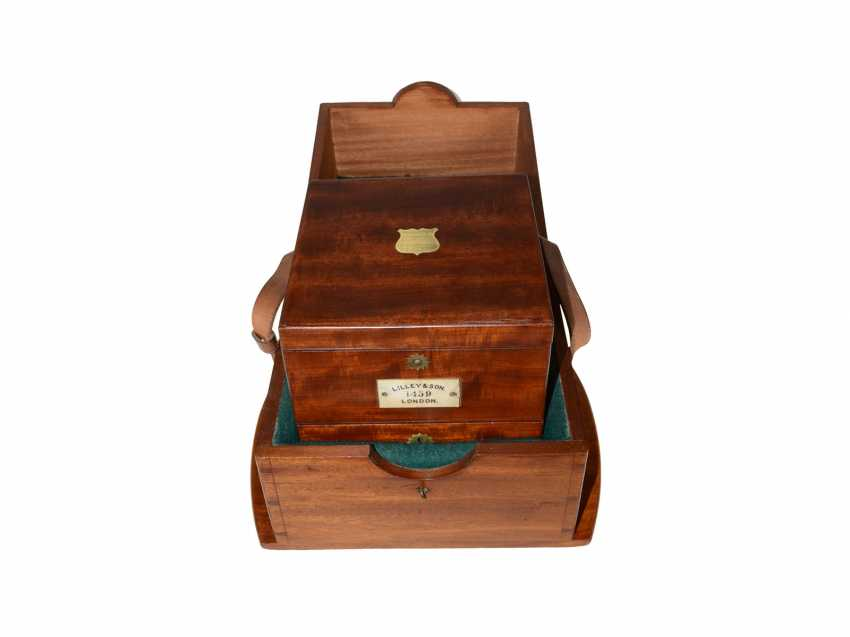 Marine chronometer: early, interesting English marine chronometer, double case, Lilley & Son, London, No. 1753, Royal chronometer maker, about 1900-1910 - photo 5