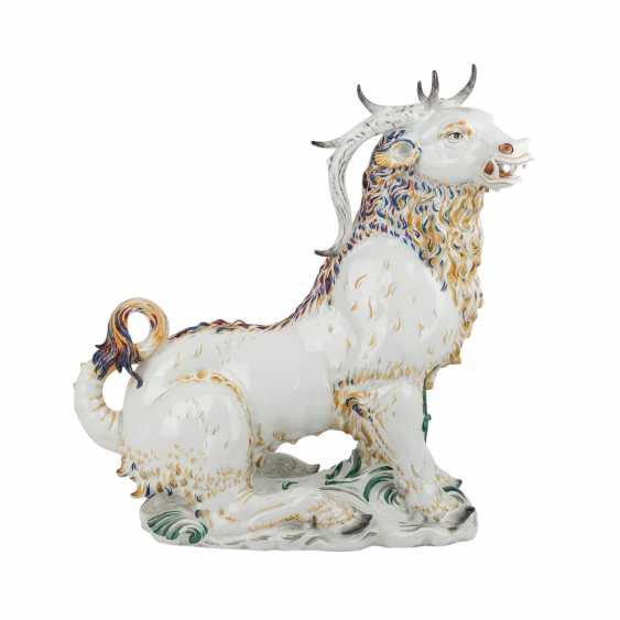 "OLDEST VOLKSTEDT porcelain manufactory tall plastic ""deer boar"", around 1920. - photo 5"