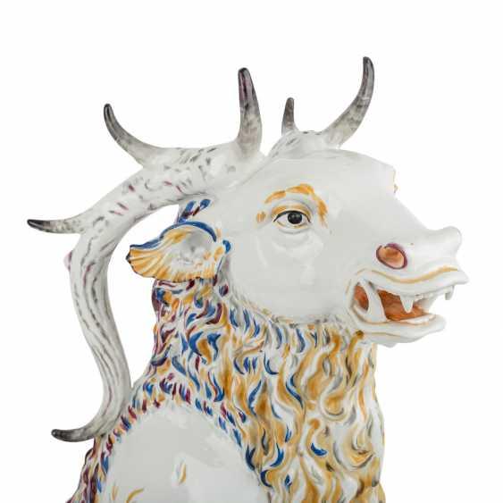 "OLDEST VOLKSTEDT porcelain manufactory tall plastic ""deer boar"", around 1920. - photo 6"