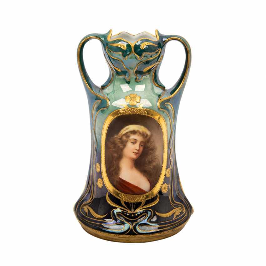 Probably JOSEF RIEDL/BOHEMIA art Nouveau Vase, about 1900, - photo 1