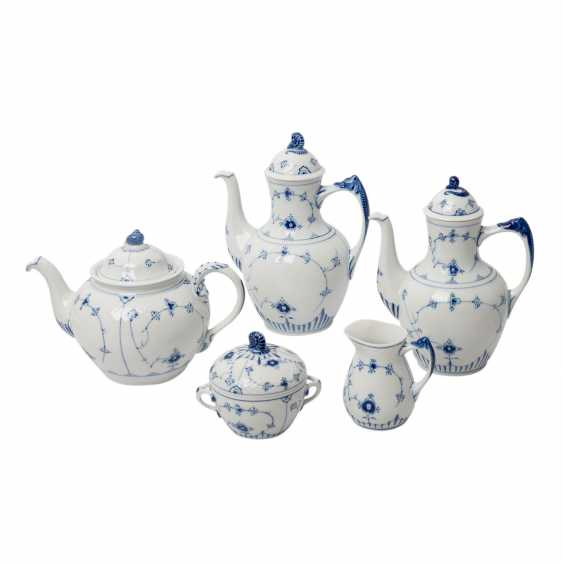 BING&GRONDAHL coffee/tea set for 6 persons 'Bla Malet' (straw flower), 20. Century - photo 2
