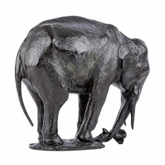 "Here, Holtz, GUSTAV ADOLPHE (here, too, wood, 1877-1948), ""elephant"", - photo 3"