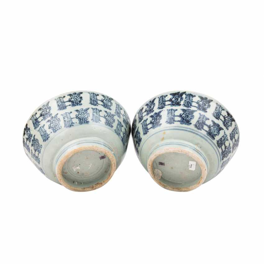 Two large underglaze blue circular shells. TEK SING-CHINA, 1820s. - photo 6