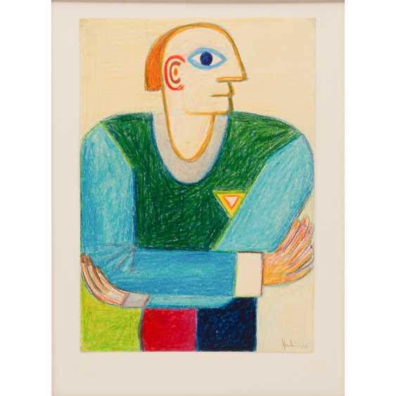 """Genk Inger, FRITZ (1934-2017), """"head portrait"""", - photo 1"""