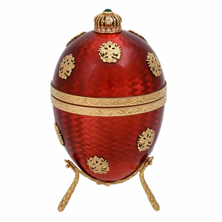 FABERGE by VICTOR MAYER, Ei mit Hündchen, - photo 3