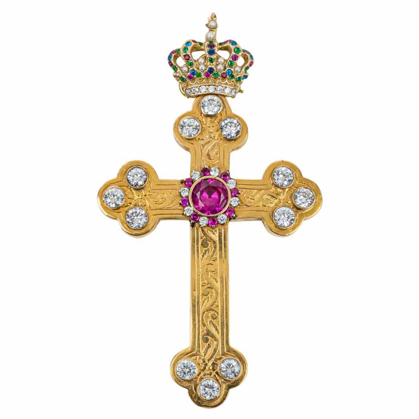 RARE Bishop cross IN GOLD with rich - photo 1