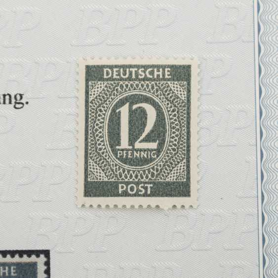 D after 1945 / allied occupation – 1946, 12 Pf. Dark green grey, - photo 2