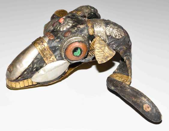 Lot: RAM skull (Kapala), and a bone trumpet (Kangling) - photo 12