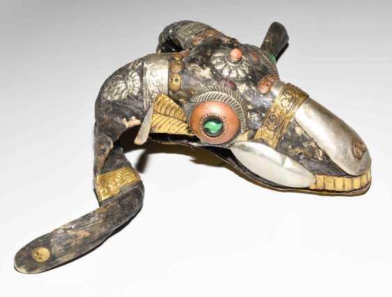 Lot: RAM skull (Kapala), and a bone trumpet (Kangling) - photo 14