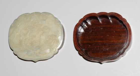 Jade plaque on lid of box - photo 11