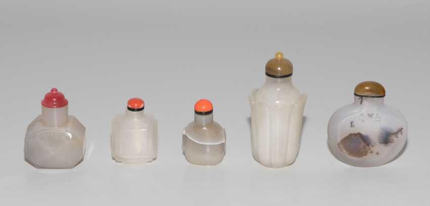 5 Achat Snuff Bottles - photo 2