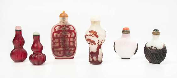 6 Glas Snuff Bottles - photo 1