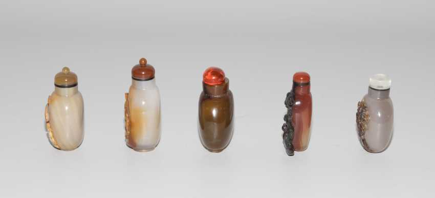 5 Achat Snuff Bottles - photo 3