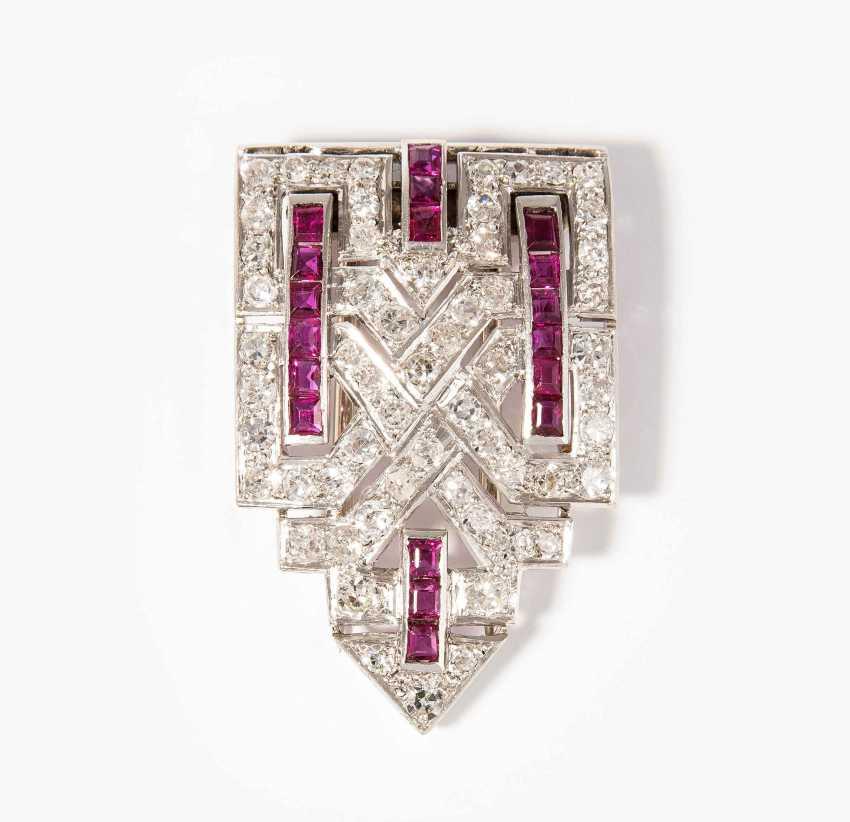 Diamant-Rubin-Dressclip - photo 1