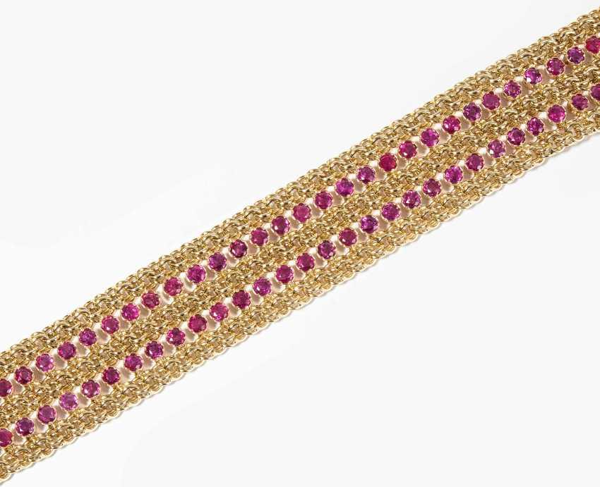 Rubin-Gold-Bracelet - photo 1