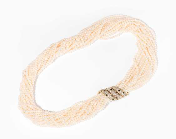 Cartier Brillant-Onyx-Pearls-Necklace - photo 1