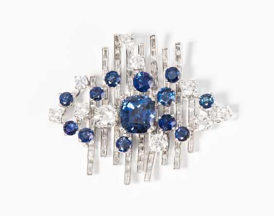 Sapphire And Diamond Pendant - photo 1