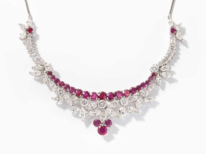 Ruby-Diamond-Collier - photo 1