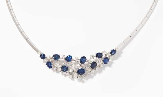 *Sapphire And Diamond Necklace - photo 1