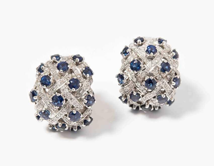 Sapphire And Diamond Clip-On Earrings - photo 1