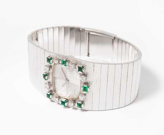 Diamond And Emerald Wrist Watch - photo 1