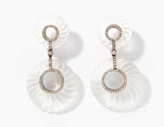 Rhinestone Diamond Drop Earrings - photo 1