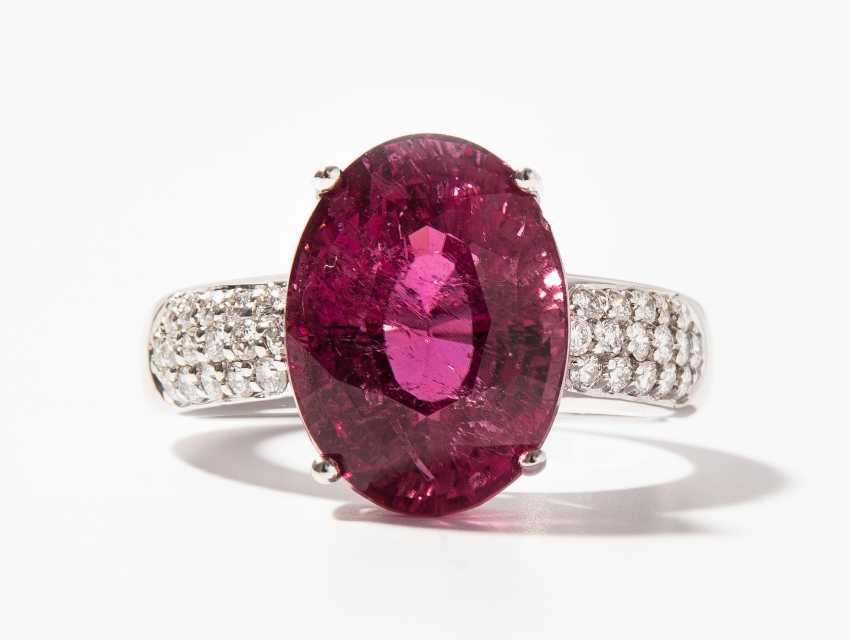 Rubellit-Brillant-Ring - photo 1