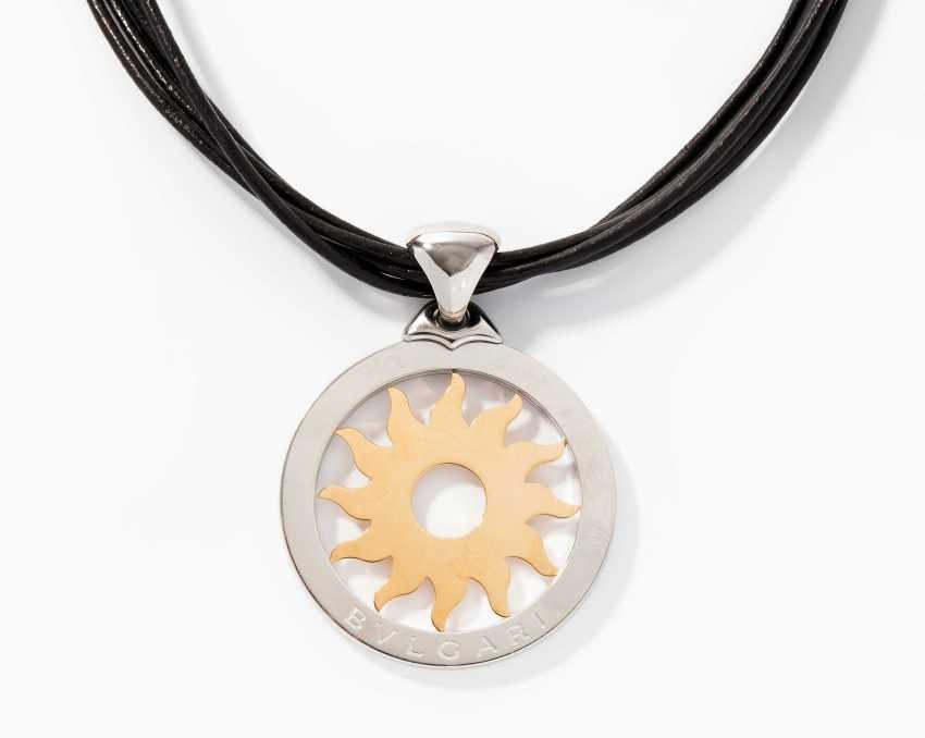 Bulgari pendant with leather cord - photo 1