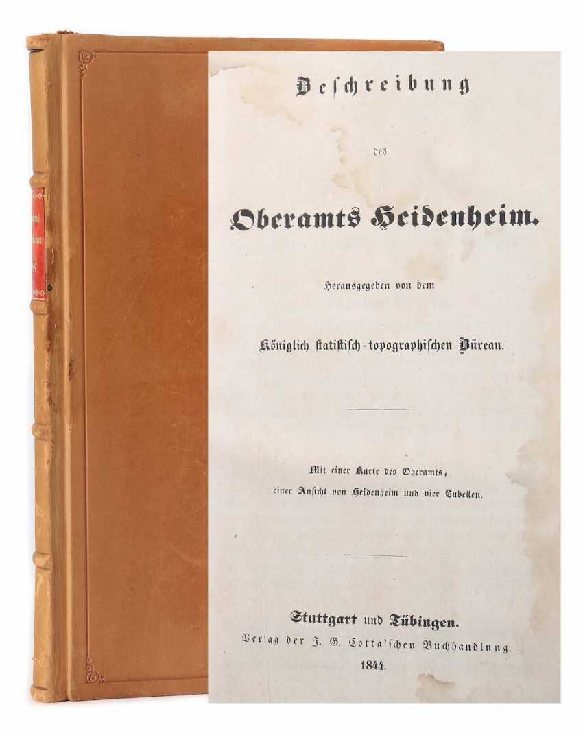 Description of the Oberamts Heidenheim published by the Royal statistical-topographic Office - photo 1