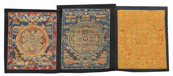 3 Mandala Thangkas At The End Of 20. Century/modern - photo 1