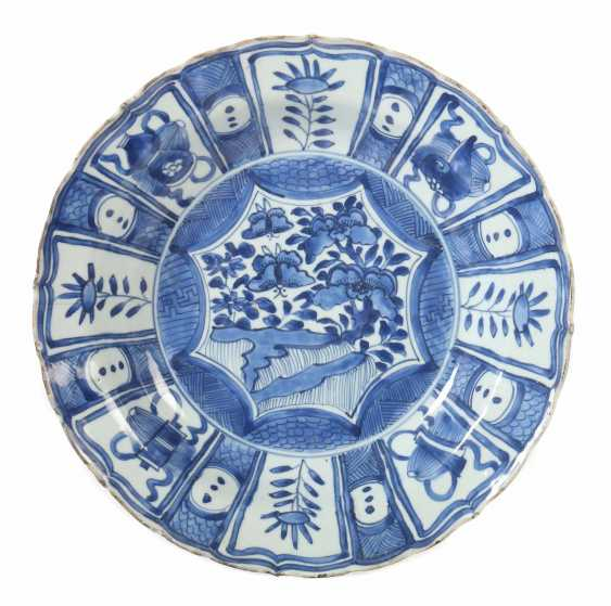 Plate with blue painting China - photo 1