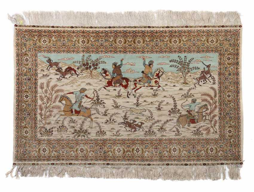 Hand Knotted Persian Hunting Carpet Turkey - photo 1