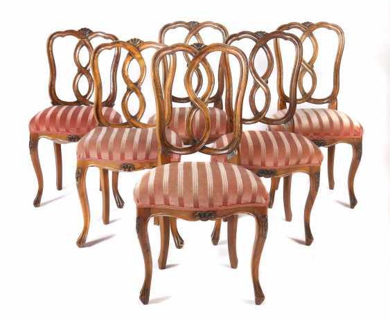 Six Baroque Chairs 18. Century - photo 1