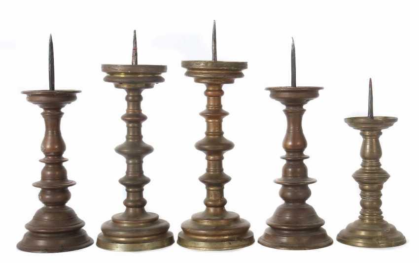 5 mandrel chandelier 18./19. Century - photo 1