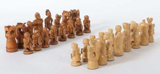 Chess game in velvet case 20. Century - photo 1