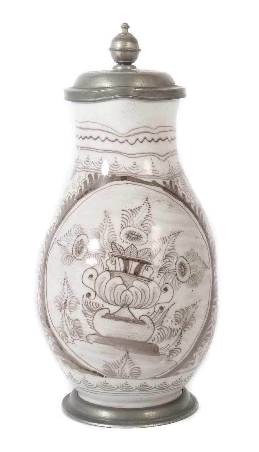Birnkrug with vase painting 1. Half of 18. Century - photo 1