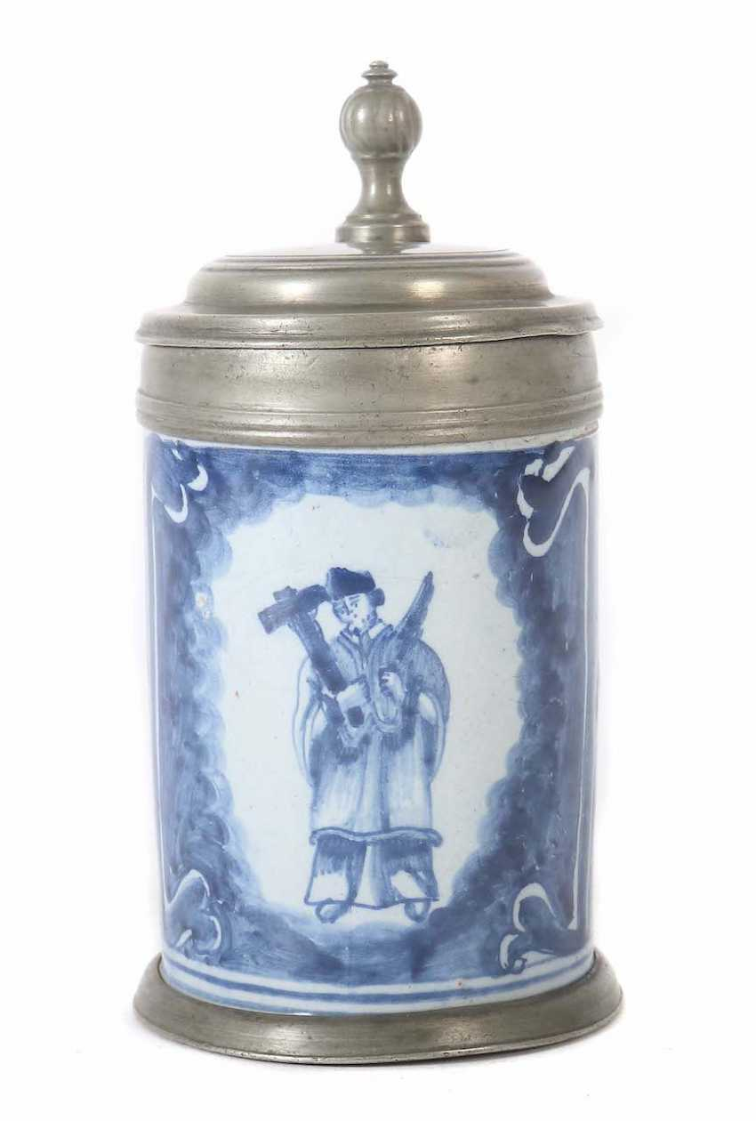 Small roll jug with the Holy Nepomuk Nuremberg - photo 1