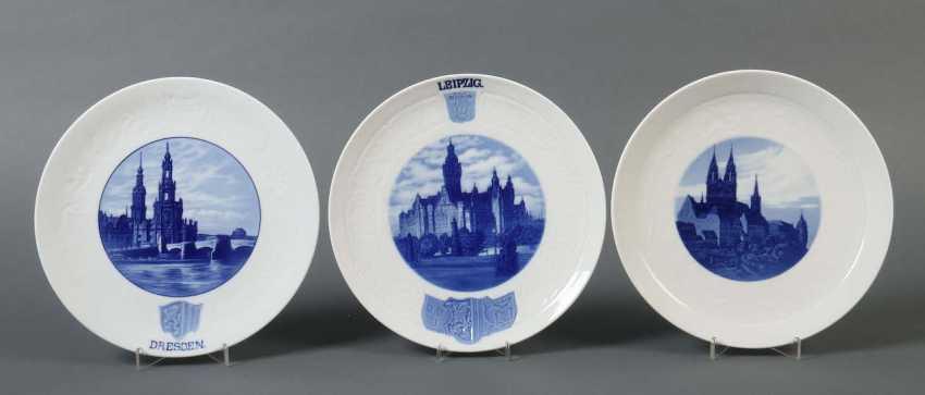 3 Town Plates Meissen - photo 1