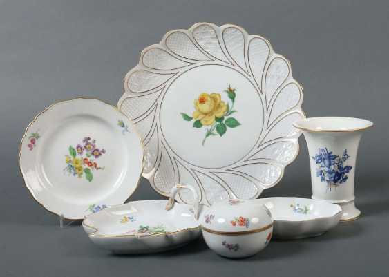 Vintage Tableware with flower painting, Meissen - photo 1