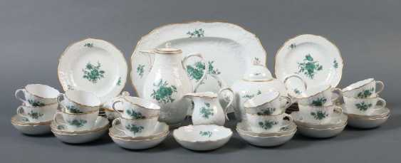 """Coffee/tea set """"flower copper Meissen green"""" for 12 persons - photo 1"""
