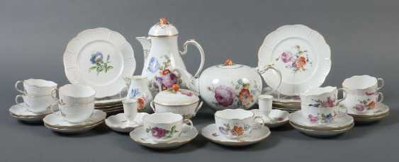 Coffee/tea set with fashion flowers painting for 10 persons Ludwigsburg - photo 1