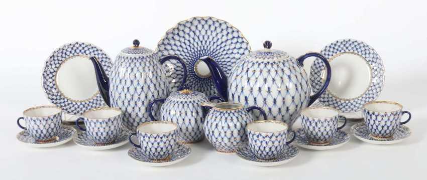 "Coffee/tea service ""cobalt net"" for 6 persons, Lomonosov - photo 1"