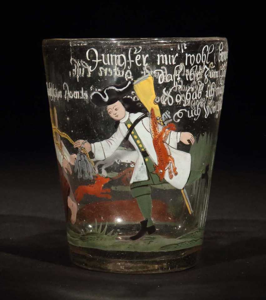 Beaker with enamel painting 18. Century - photo 1