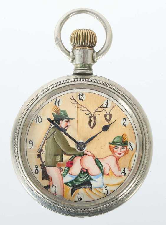 Mr pocket watch with erotic motif 20. Century - photo 1