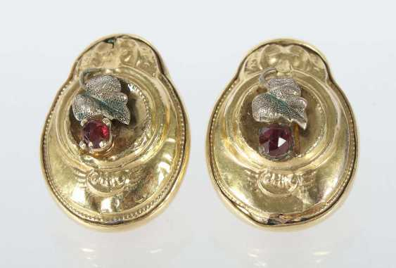 Pair Of Clip On Earrings 19./20. Century - photo 1