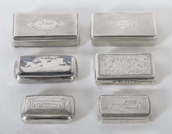 6 tobacco cans 19./20. Century - photo 1