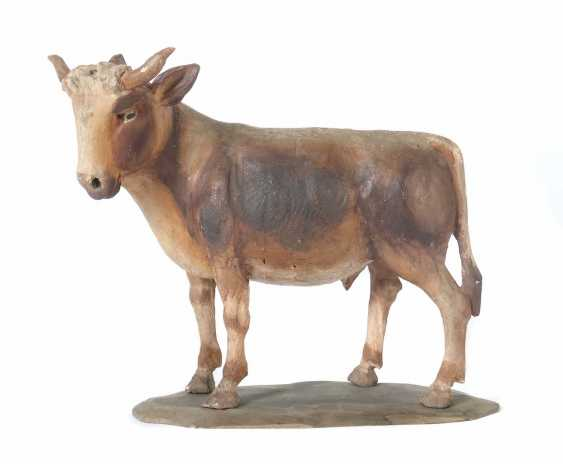 """Carver of the 18th century Nativity figures """"ox"""" - photo 1"""