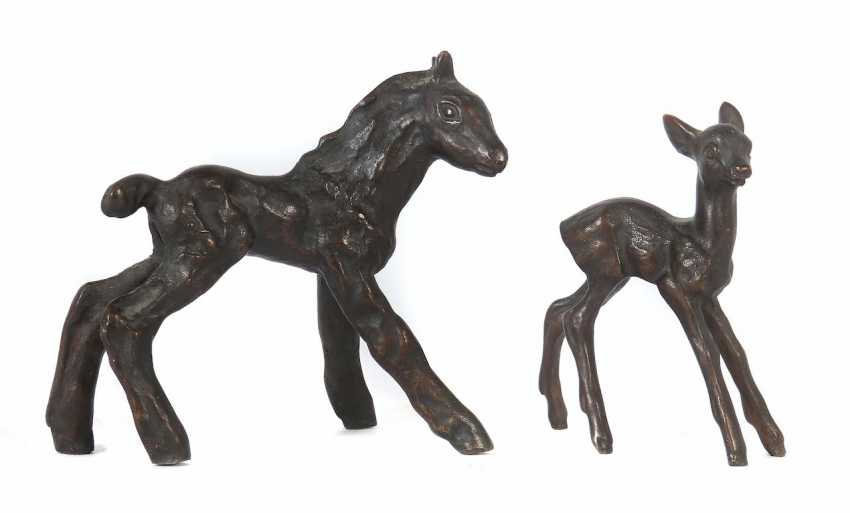 """Sculptor 20. Century """"Filly & Fawn"""" - photo 1"""