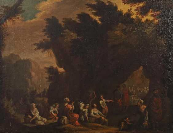 """Painter of the 18th century. Century, """"landscape with grotto"""" - photo 1"""