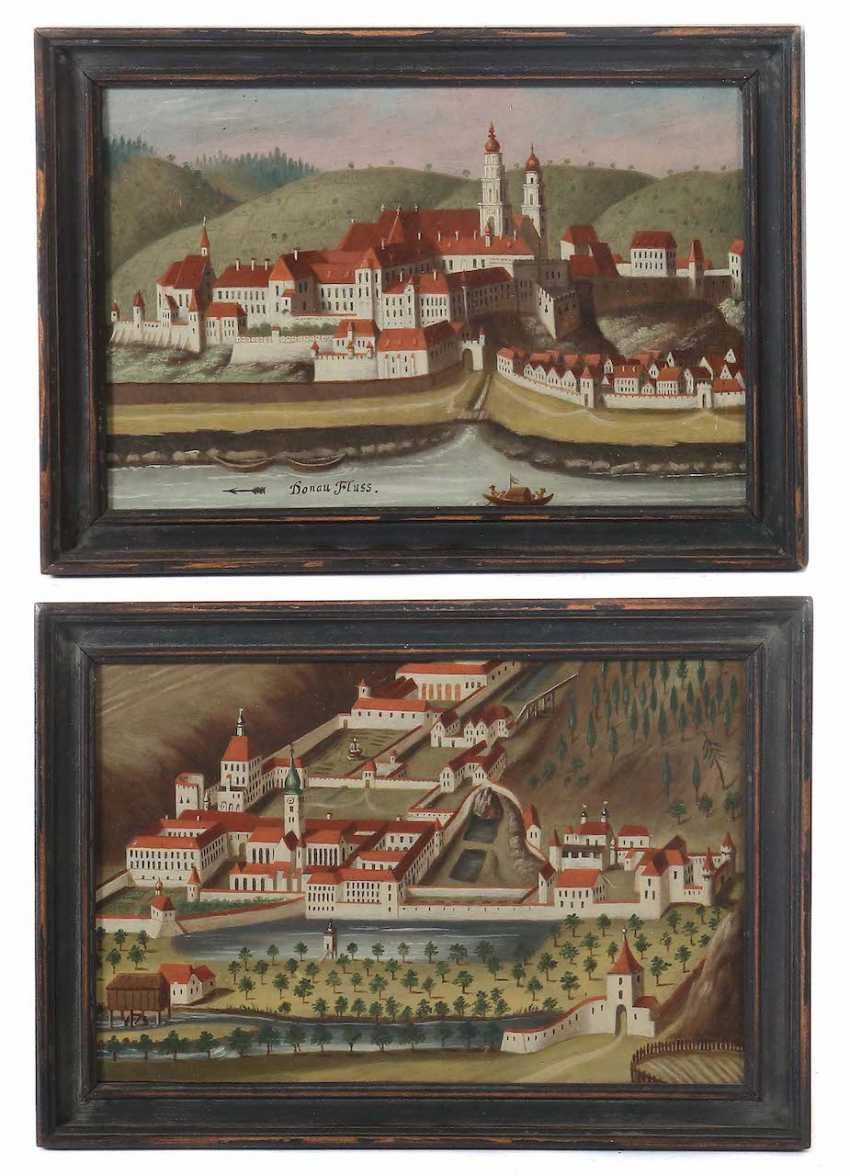 "Landscape painter of the 18th century./19. Century ""view of two monasteries"" - photo 1"